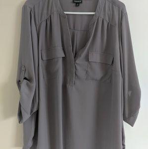 Grey torrid shirt